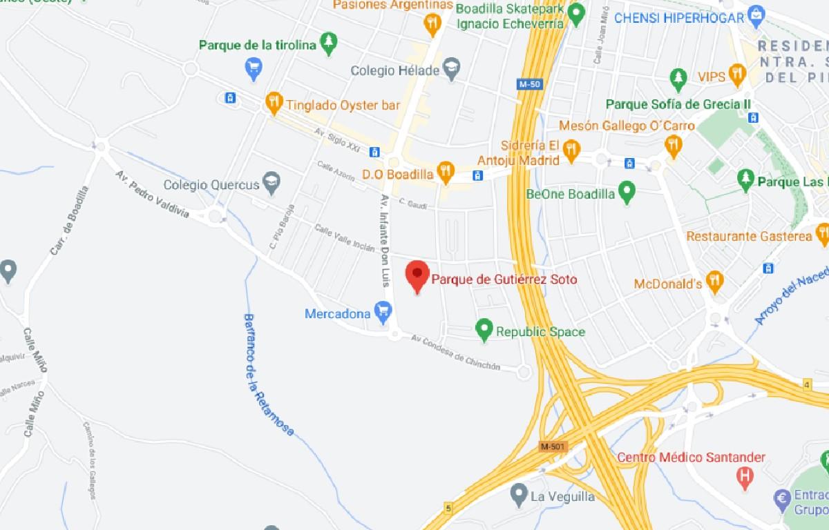 Como llegar a Parque Gutiérrez Soto