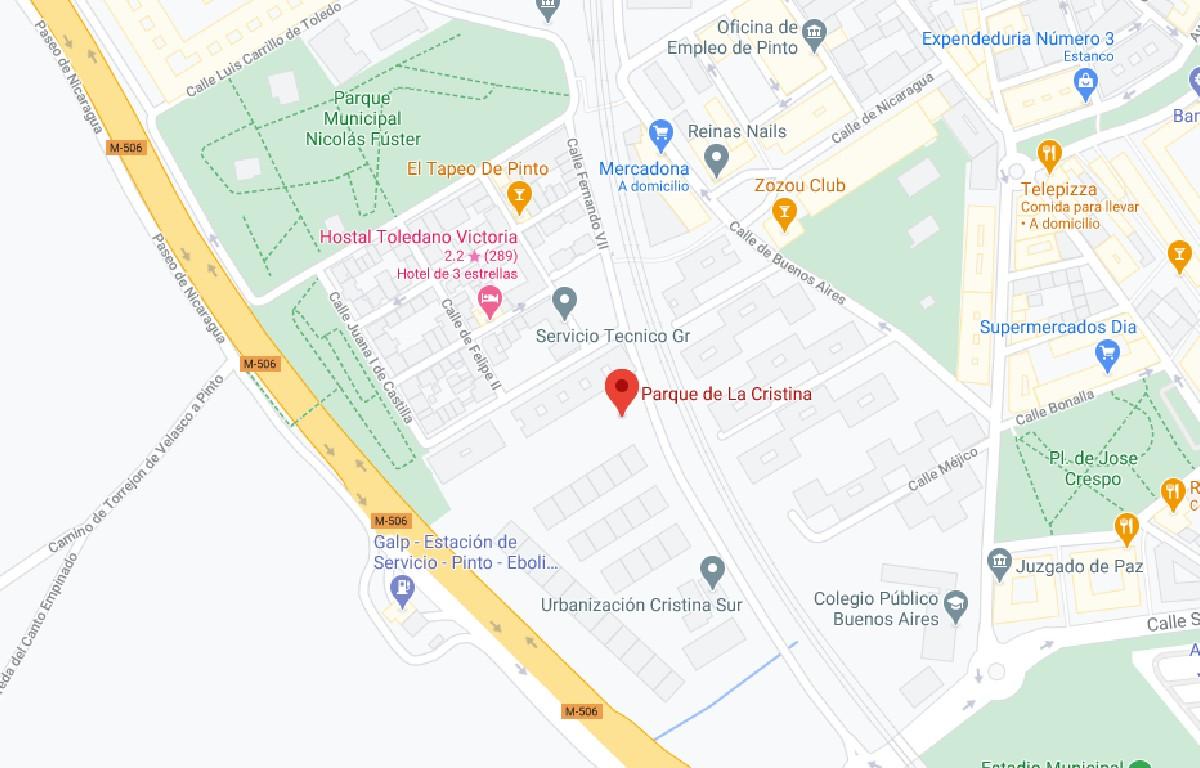 Como llegar a Parque Cristina