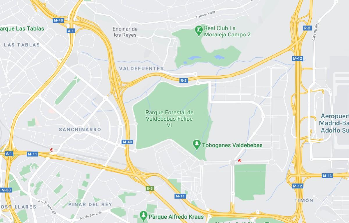 Como llegar a Parque de Valdebebas